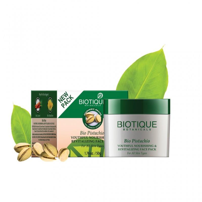 Питательная маска с фисташковым маслом Bio Pistachio Face Pack Biotique