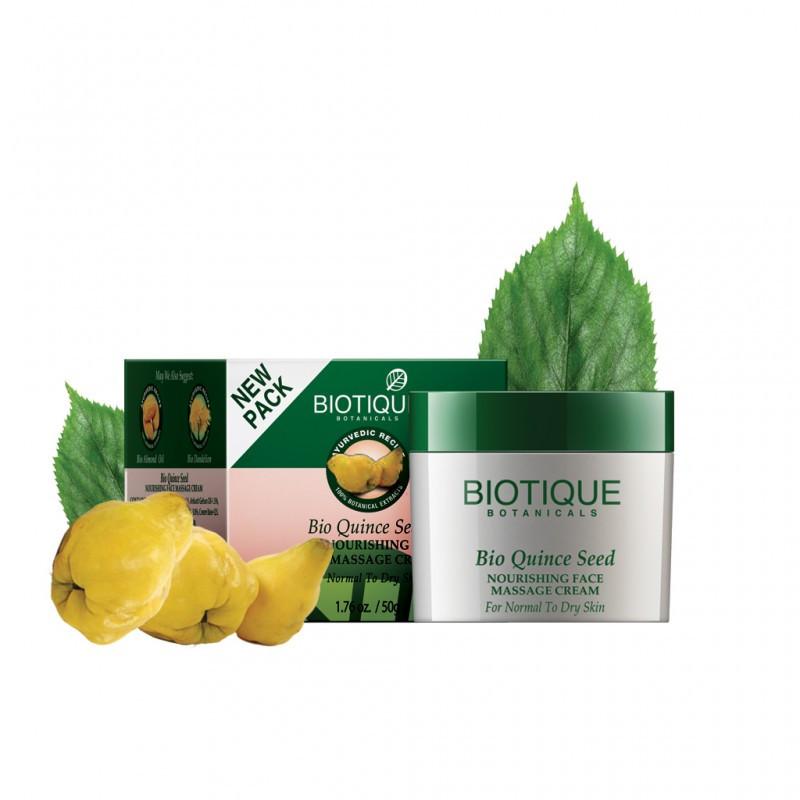 Питательный массажный крем для лица с маслом семян айвы Bio Quince Seed Biotique Cream
