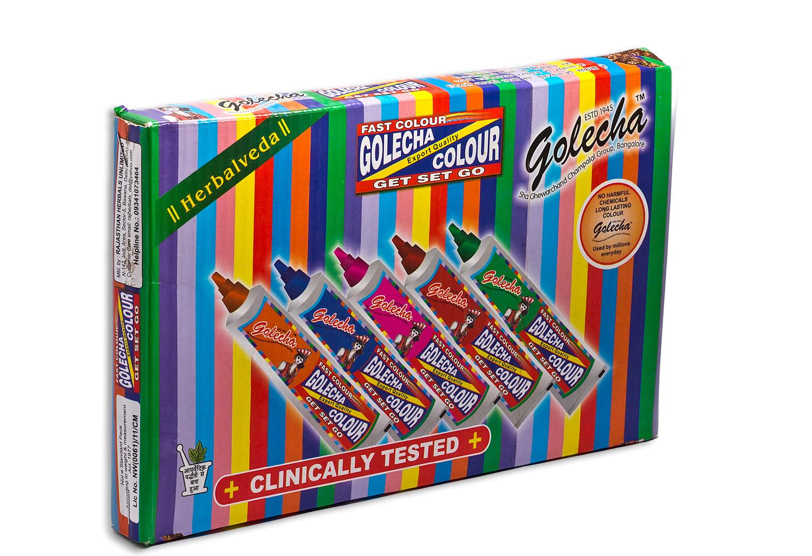Набор цветной хны в тюбиках Golecha Colour Set