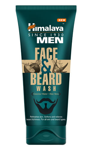 Средство для умывания для лица и бороды Men Face and Beard Wash Himalaya