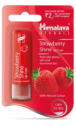 Бальзам для губ Клубничный цвет Himalaya Strawberry Shine Lip Balm