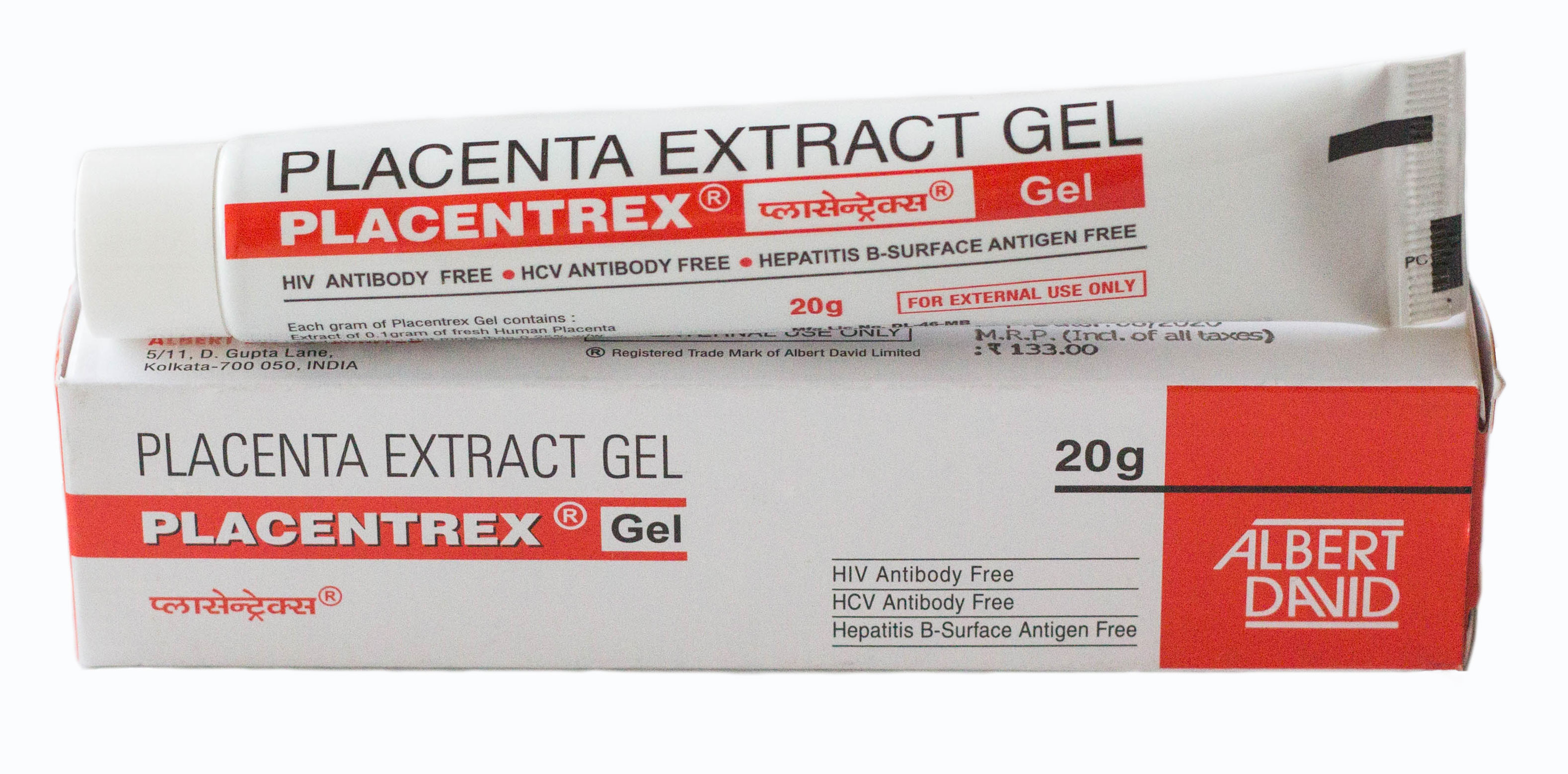 Плацентарный гель Плацентрекс Placentrex Gel Albert David