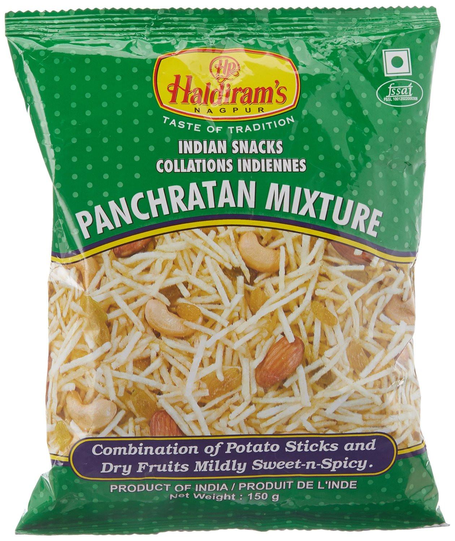 Чипсы картофельные с сухофруктами и орехами Panchratan Mixture Haldirams