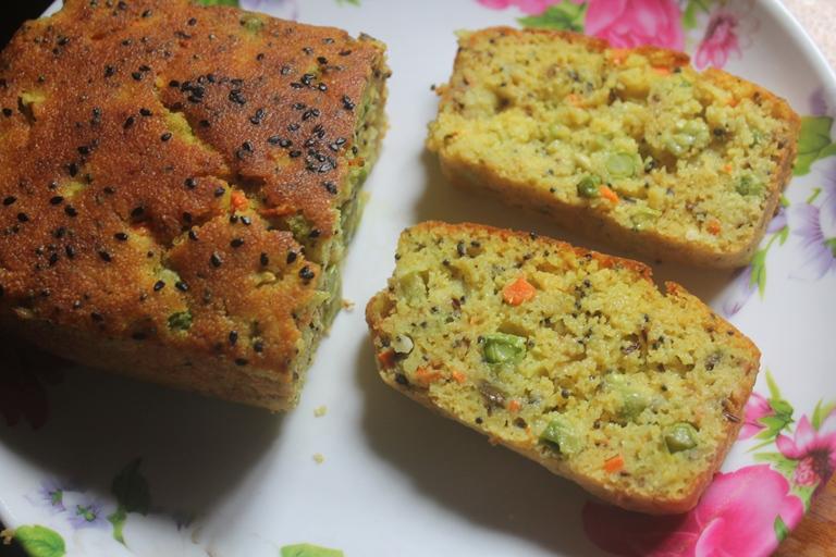 Индийский кекс с овощами