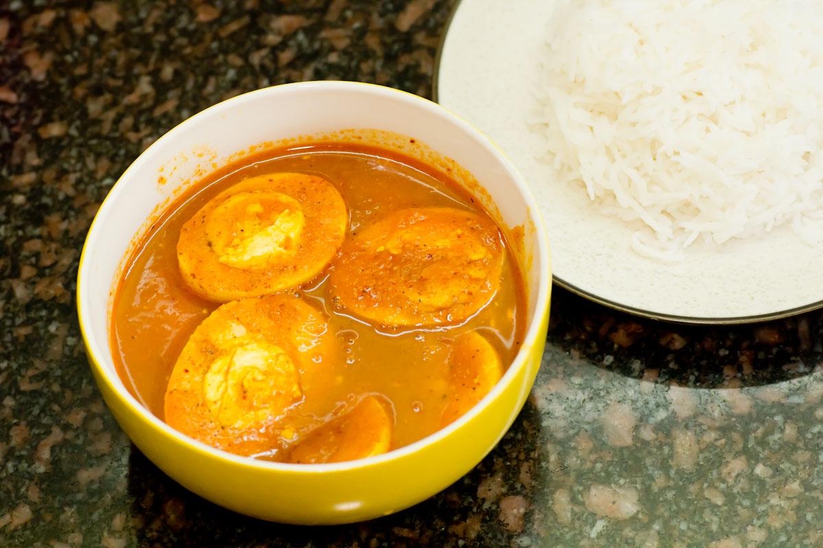 Как приготовить карри из яиц