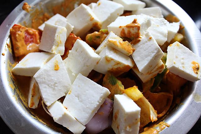 Овощные шашлычки с сыром