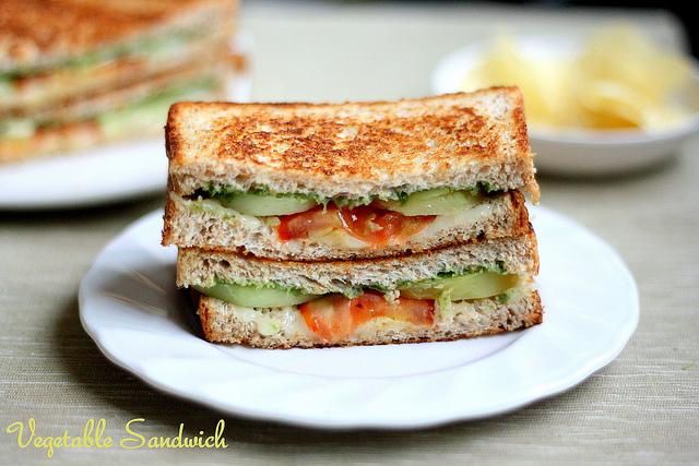 Сендвич с овощами